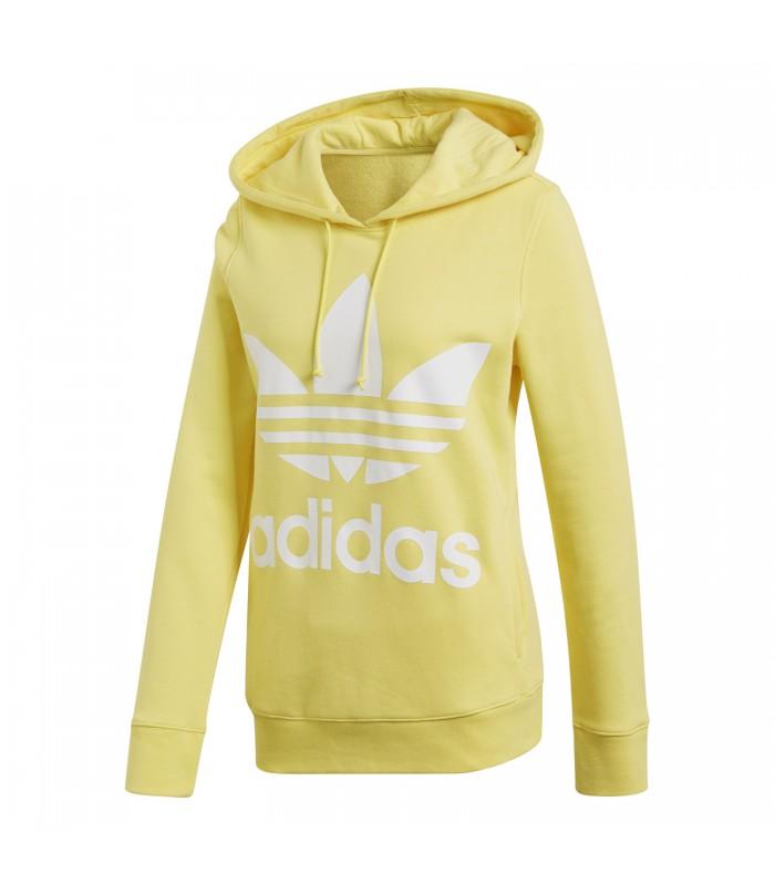 mejores marcas bajo precio gran selección de Sudadera con capucha adidas Trefoil para mujer en color amarillo