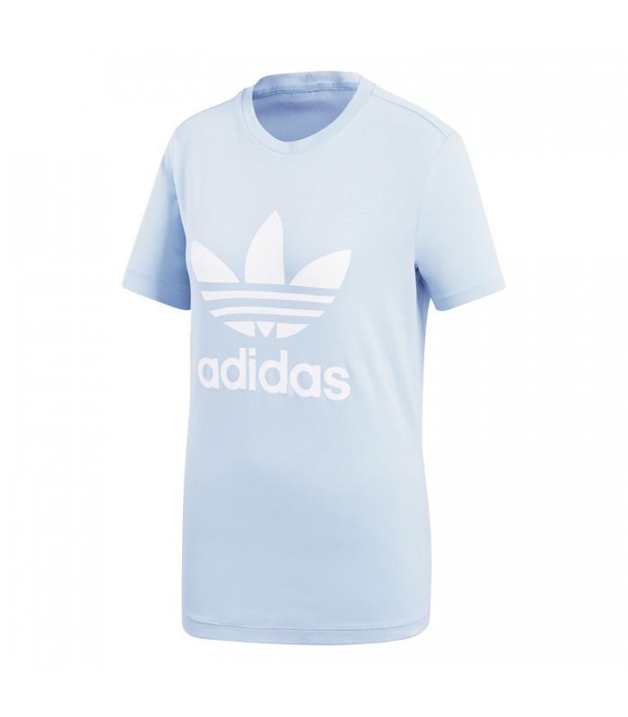 tienda del reino unido mejor valor fuerte embalaje Camiseta adidas Trefoil para mujer en color azul