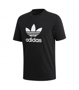 sello fuegos artificiales regular  Camiseta adidas Trefoil para hombre en color negro