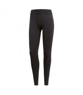Mallas adidas Linear Logo CZ9638 para mujer en color negro, mallas de algodón adidas en chemasport.es