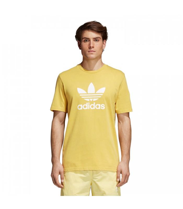 Universal diferente cascada  Camiseta adidas Trefoil para hombre en color amarillo