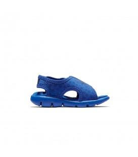 Chanclas para niños pequeños con cierre de velcro Nike Sunray Adjust 4 TD 386519-414 de color azul. Otras chanclas para niños en chemasport.es