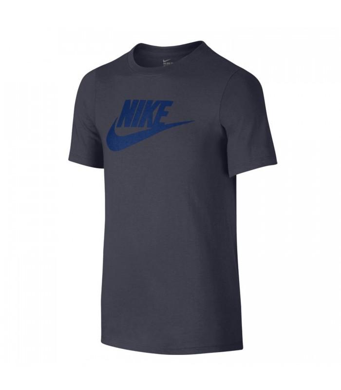 183ce230b8 Camiseta Nike Futura Icon para niño en color gris oscuro