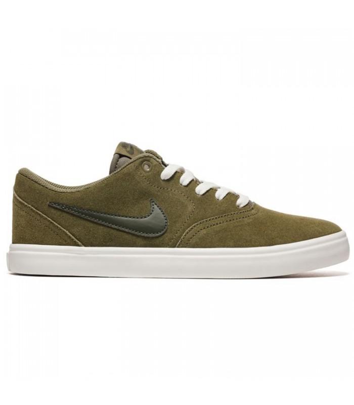 Verde Olivo Nike SB Check Solar, Zapatillas de Deporte