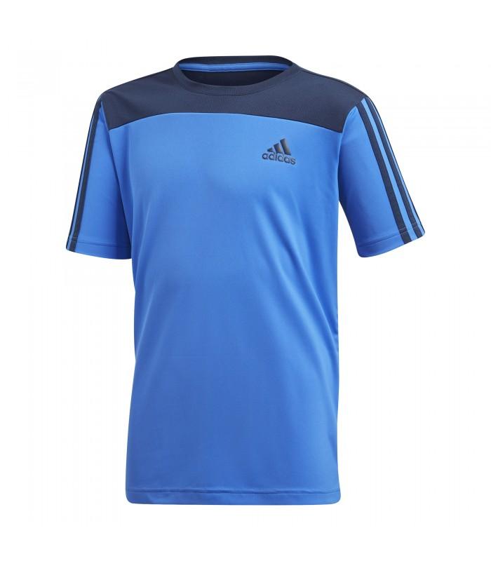 b8ddbe8e007a4 Camiseta adidas de manga corta Speed Creation de color azul.