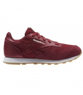 ZAPATILLAS REEBOK CL LEATHER ESTL GRANATE NIÑOS