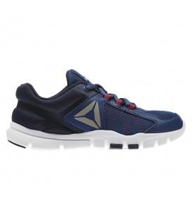 Zapatillas de entrenamiento para niños Reebok Yourflex 9 CN0762 de color azul marino. Otros modelos deportivos para niños en chemasport.es