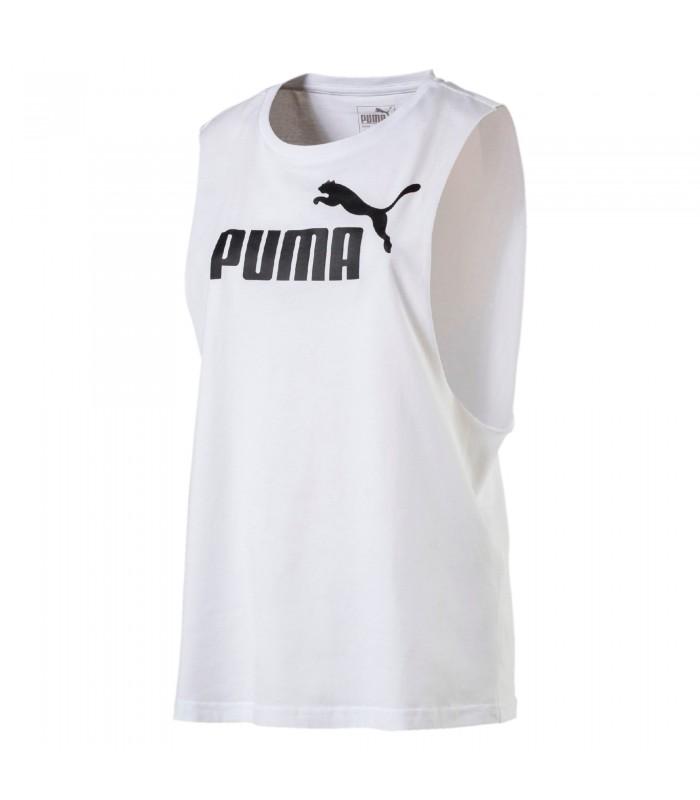 b54fcd83a Camiseta para mujer PUMA Cut Off Boyfriend Tank en blanco