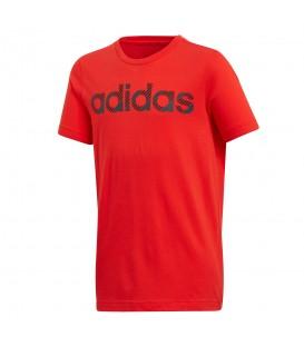 Camiseta adidas Linear CV6147 para niño en color rojo, camisetas básicas para niños de algodón al mejor precio en chemasport.es