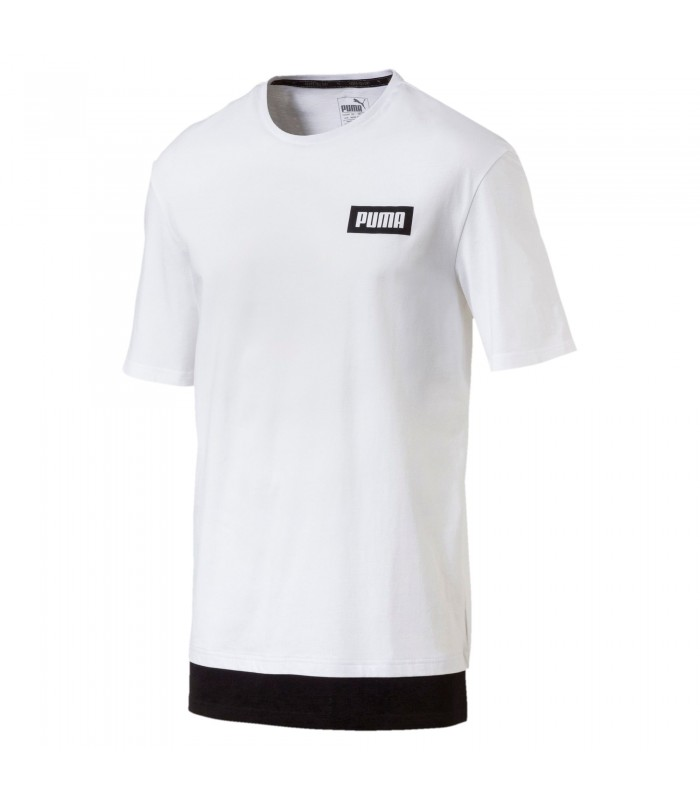 Camiseta de manga corta para hombre Puma Rebel de color blanco. 9f28641be42df