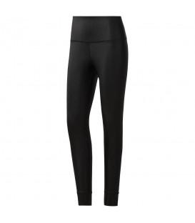 Malla Reebok Metallic CG1266 para mujer en color negro, mallas de tiro alto de tejido resistente y elástico, perfectas para clases de yoga o pilates