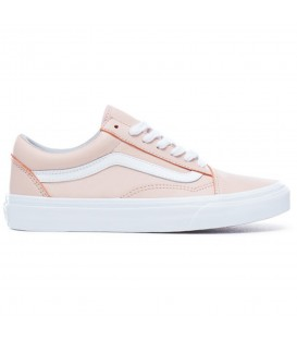 ZAPATILLAS VANS UA OLD SKOOL LEATHER OX ROSA MUJER