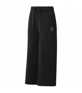 Pantalón de chándal tipo cropped de algodón Reebok Straight Leg Cropped de color negro. Ref: CD8188.
