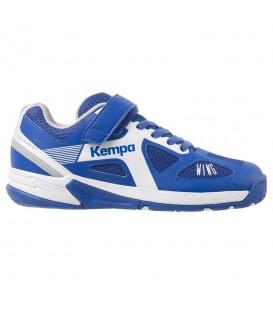 Zapatillas de balonmano para niños Kempa Fly Wing Junior 200849501 de color azul al mejor precio en tu tienda de deportes online chemasport.es