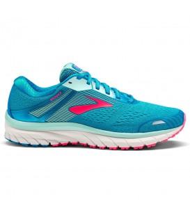 Zapatillas de running para mujer con buena amortiguación Brooks Adrenaline GTS 18 1202681B408 de color azul al mejor precio en chemasport.es