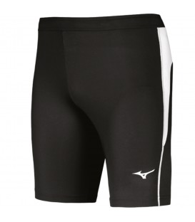 Malla corta Mizuno Team Authentic para hombre de color negro ideal para carreras y entrenamientos. Disponible en www.chemasport.es