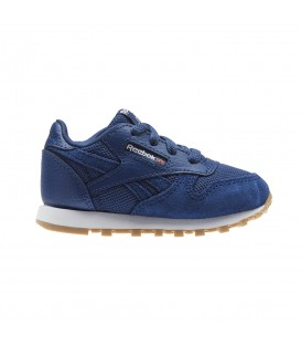 ZAPATILLAS REEBOK CL LEATHER ESTL KIDS CN1138 AZUL MARINO
