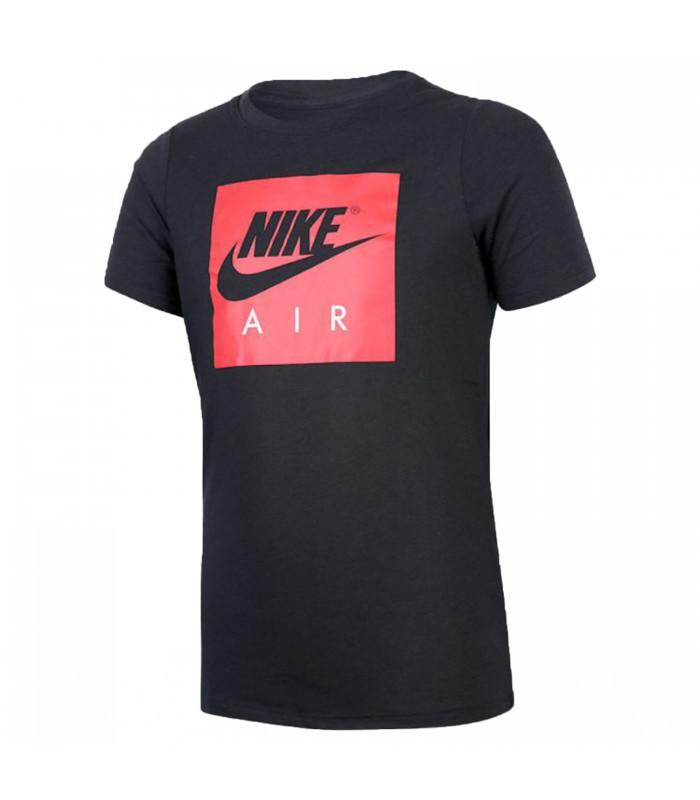 e15649d206e43 Camiseta Nike Air Logo para niños en color negro