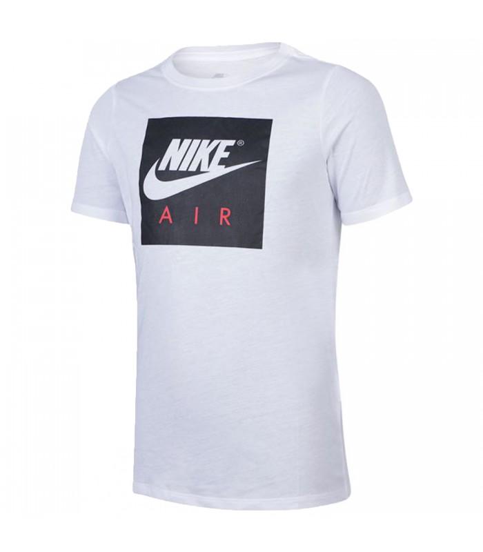 1b6b757ee42a8 Camiseta Nike Air Logo para niños en color blanco
