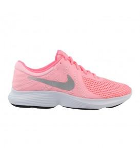 Zapatillas de running para mujer y niños Nike Revolution 4 GS 943306-600 de color rosa al mejor precio en tu tienda de deporte online chemasport.es