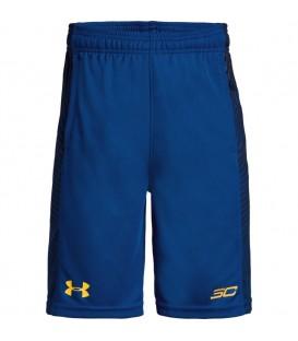 Pantalón corto de niño Under Armour SC30 Doppler de color azul. Pantalón de baloncesto perteneciente a la colección SC30 de la casa americana. Ref: 1309322-400