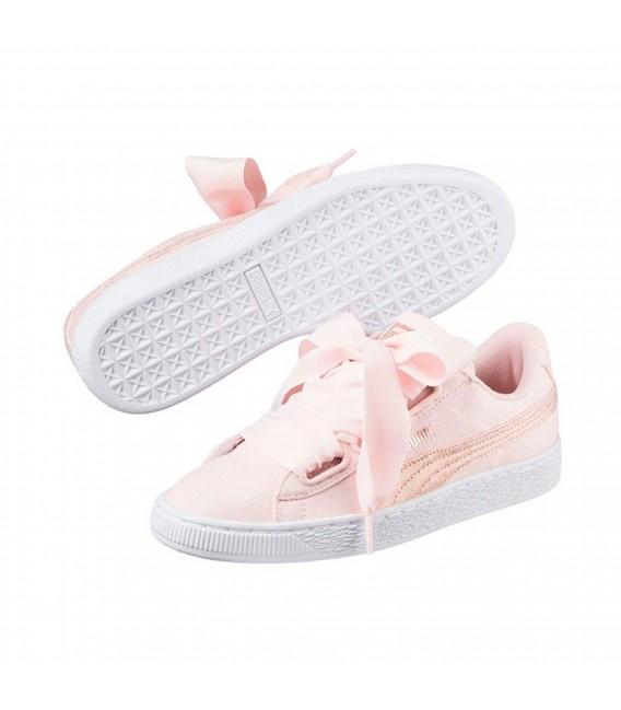 puma basket heart rosa palo