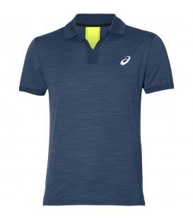 Polo de tenis Asics Court Primavera de color azul para hombre perfecto para la práctica de tenis. Ref: 134098-0904