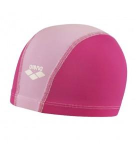 Gorro de piscina Arena Unix 91279 025 para niños en color rosa, gorro de natación cómodo y fácil de poner, más colores disponibles en chemasport.es