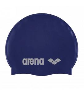 Gorro de piscina Arena Silicone 91662 071 en color azul marino, gorro clásico de silicona que se ajusta de forma perfecta, más colores en chemasport.es