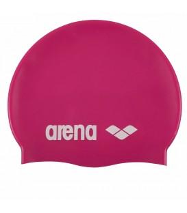Gorro de piscina Arena Silicone 91662 091 en color fucsia, gorro de natación de uso regular con un ajuste perfecto, más colores en chemasport.es al mejor precio