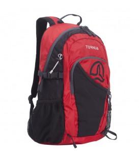 Mochila Ternua SB25 2691834-9777 en color rojo, mochila de trekking con sujección para bastones y bolsillo para bebidas, encuéntrala en chemasport.es