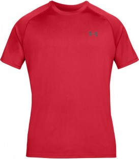 Camiseta Under Armour Training Tech de color rojo. Camiseta técnica con el sello de la casa americana y sistema de gestión de la humedad. Ref: 1262791-629.