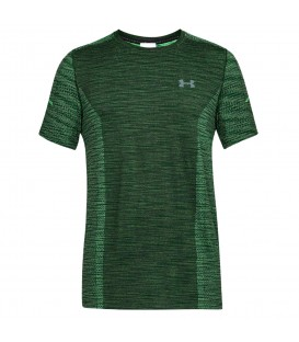 Camiseta técnica de entrenamiento Under Armour Threadborne Seamless 1289596-701 de color verde para hombre en chemasport.es