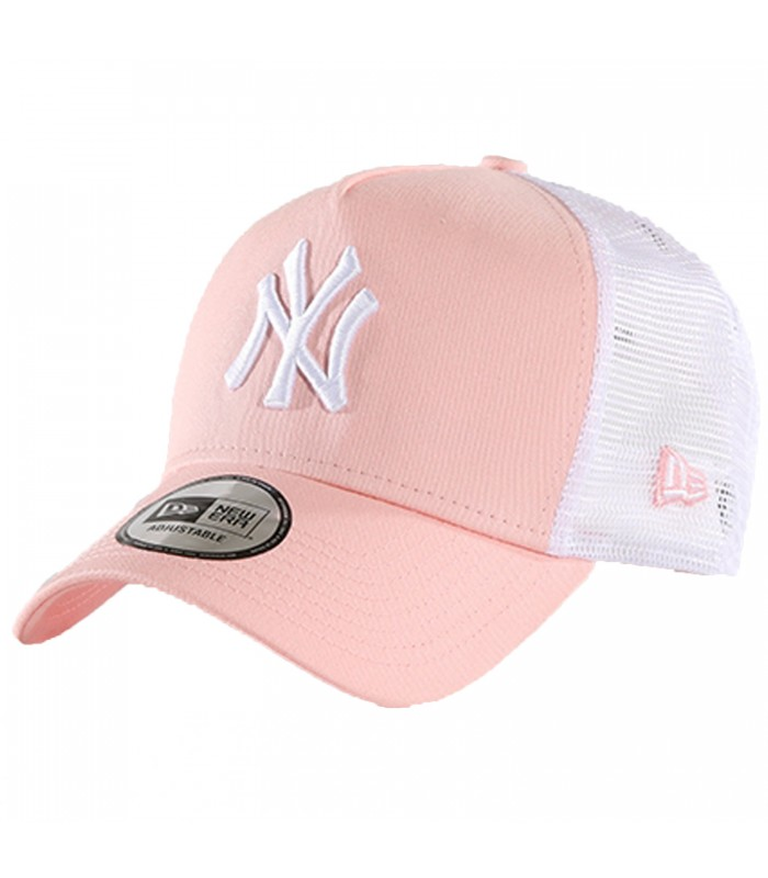 94bd08ad798f3 Gorra New Era League Essential New York Yankees de color rosa y blanco