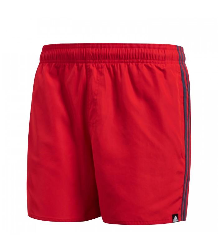 3f3f1addb473 Bañador adidas 3 Bandas para hombre en color rojo