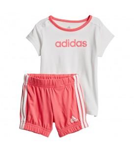 Conjunto adidas Summer Easy CF7413 para niños en color blanco y rosa, perfecto para los días de verano, cómpralo ya en chemasport.es y recíbelo en 24/48 horas!