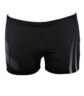Bañador Arena Minishort Shadow 000079-501 para hombre en color negro, bañador de natación con tejido de larga duración resistente al cloro.