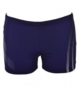 Bañador Arena Minishort Shadow 000079-701 para hombre en color azul marino, bañador con tejido de larga duración y resistente al cloro, con cordón interior.