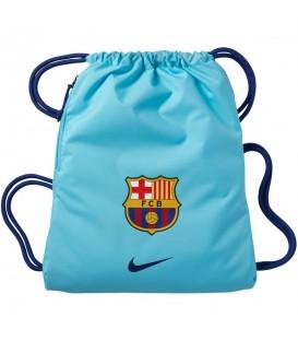Saquito Nike FC Barcelona BA5413-483 en color azul cielo, demuestra que eres un auténtico fan del FC Barcelona con esta mochila tipo saco con cierre de cordón.
