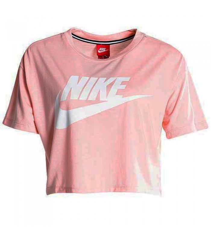 2e24bdbef66d9 Crop top Nike Essentials de color rosa
