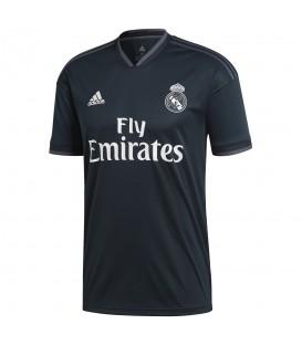 Camiseta adidas de la segunda equipación Real Madrid 2018/19 CG0534 de color gris oscuro. La réplica de la camiseta del Real Madrid 2018/19 al mejor precio.