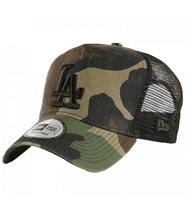 afb418e8a6acd Gorra New Era Los Angeles Dodgers A Frame Trucker en color camuflaje
