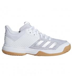 Zapatillas de volleyball para mujer y niños adidas ligra 6 yough CP8909 de color blanco al mejor precio en chemasport.es