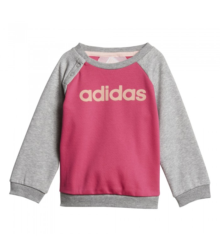 Chándal adidas Linear Fleece para niño de color magenta gris b72cd10a7ae1