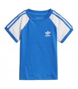 Camiseta Adidas I CLFRN para niño de color azul. Ref: DH2463. Camiseta vintage Adidas Originals estilo californiano para los más peques de la casa.