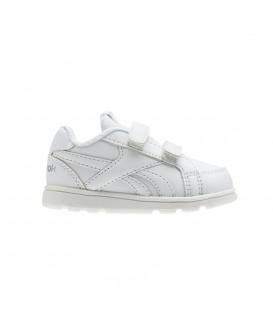 Zapatillas para niños Reebok Royal Prime Alt Infant V70002 de color blanco con cierre de velcro al mejor precio en tu tienda de deportes online chemasport.es
