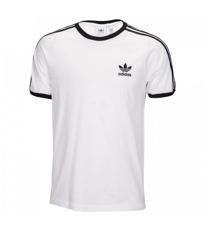 90ee432775624 Camiseta adidas 3 Stripes para hombre en color blanco