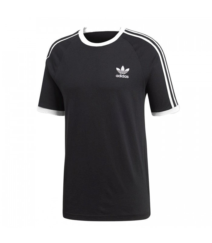 Camiseta adidas 3 Stripes para hombre en color negro