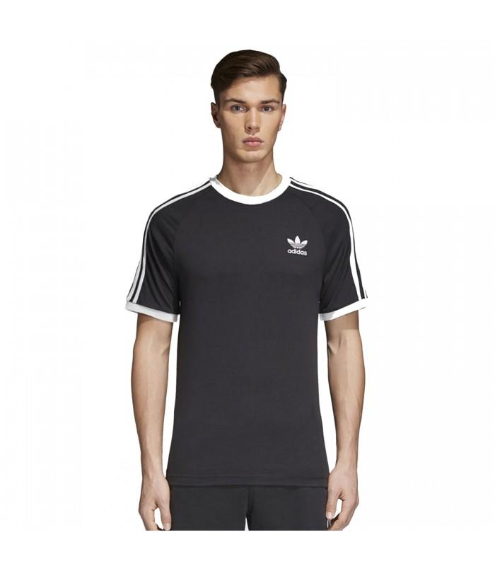 8543cc60e21ae Camiseta adidas 3 Stripes para hombre en color negro