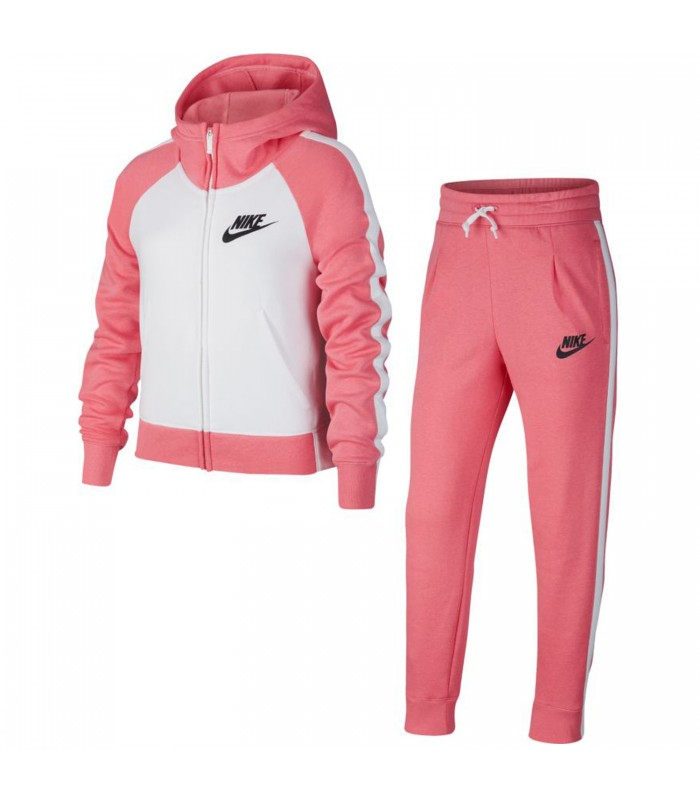 es suficiente Del Norte lotería  Chándal Nike Sportwear para niña en color blanco y rosa